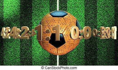 Soccer ball with numbers and dollar