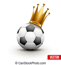 Soccer ball with royal crown of princess