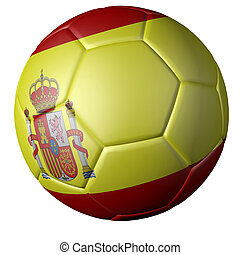 Soccer ball with Spanish flag