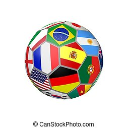 Soccer Ball with Teams Flags