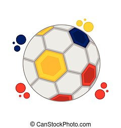 Soccer ball with the colors of Colombia