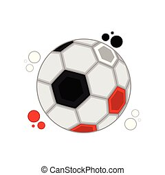 Soccer ball with the colors of Egypt