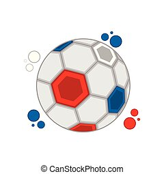 Soccer ball with the colors of France