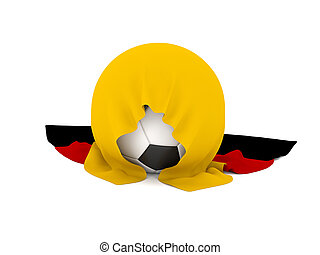 Soccer ball with the German flag