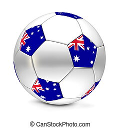 shiny football/soccer ball with the flag of Australia on the pentagons
