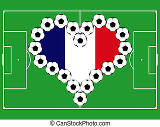 Soccer balls as French heart
