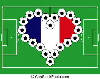Soccer balls as French heart