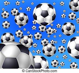 soccer balls background  blue