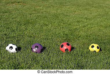 Soccer Balls In A Row