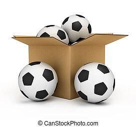 Soccer balls in the box