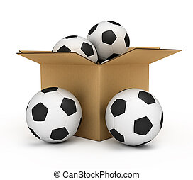 Soccer balls in the box