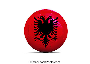 Soccer balls with team flags, Euro 2016. Group A, Albania