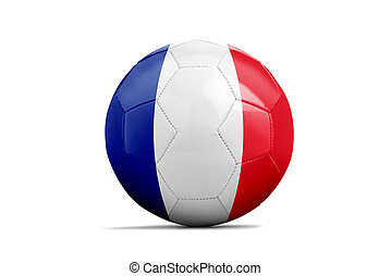Soccer balls with team flags, Euro 2016. Group A, France