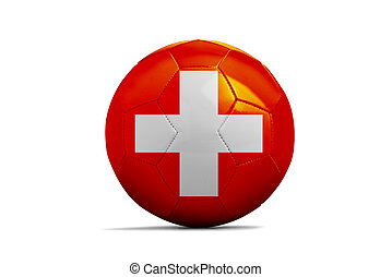 Soccer balls with team flags, Euro 2016. Group A, Swiss
