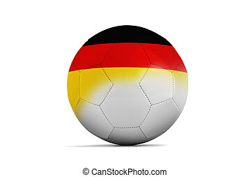 Euro 2016. Group C, Germany - Soccer balls with team flags,...