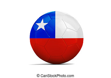 Soccer balls with teams flags,Brazil 2014. Group B, Chile
