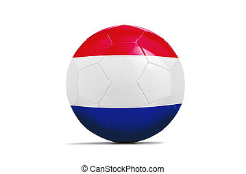 Soccer balls with teams flags,Brazil 2014. Group B, netherlands