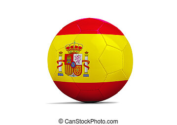 Soccer balls with teams flags,Brazil 2014. Group B, Spain