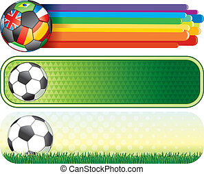 Soccer banners - Soccer colorful banners for your design