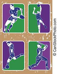 soccer baseball basketball rugby