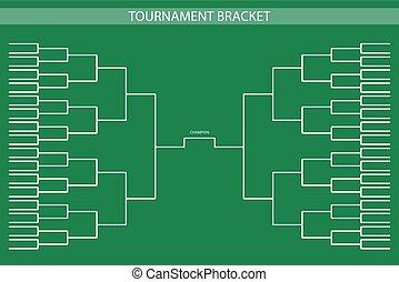 soccer, baseball Tournament Bracket for your design....