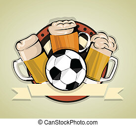 Soccer Beer Background