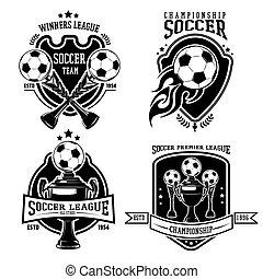 Soccer Black Badges Set
