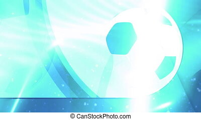 Soccer Blue Abstract Looping Animated Background