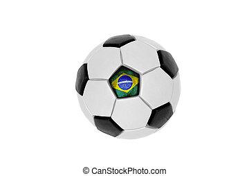 soccer bold, hos, den, flag, i, brasilien