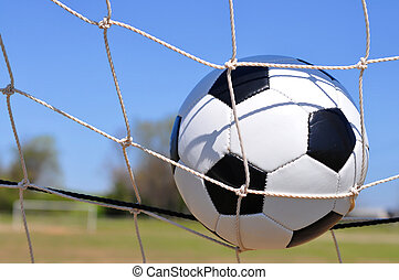 soccer bold, ind, mål