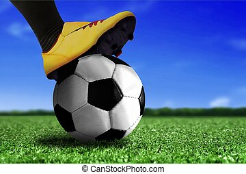 Soccer Boots on Ball
