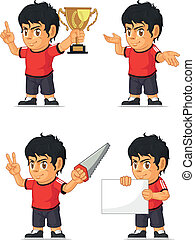 Soccer Boy Customizable Mascot 4