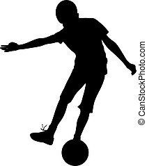 soccer boy shooting
