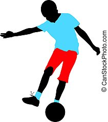 soccer boy shooting