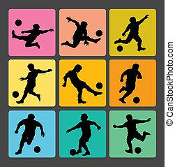 Soccer Boy Silhouettes 1