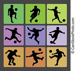 Soccer Boy Silhouettes 2