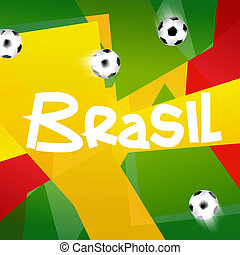 Soccer Brasil Creative Background Design 2014 - Soccer...