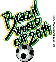 Creative design of soccer brazil