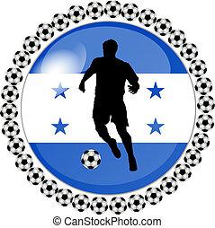 soccer button honduras - illustration of a soccer button...