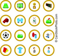Soccer cartoon icon circle