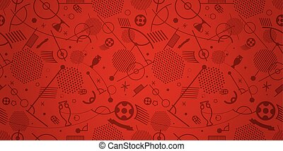Soccer championship abstract red vector background