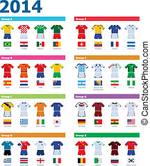 Soccer championship colours - Set of the soccer national...