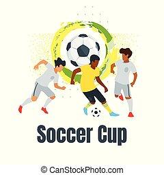 Soccer championship design element