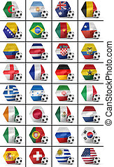 Soccer championship nations set - Set of all national flags...