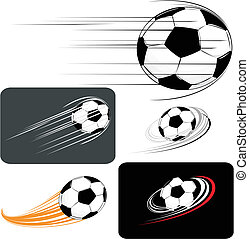 soccer clipart - set of soccer balls, in vector format...