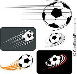 soccer clipart - set of soccer balls, in vector format ...