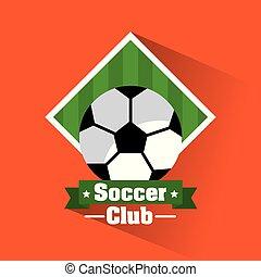 soccer club ball banner sport