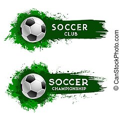 Soccer club football ball, sport championship cup