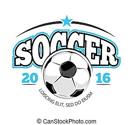 Soccer club vector logo template