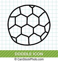 soccer color doodle